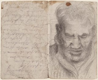 AGNSW collection Eric Wilson recto: Studies of old men verso: (studies of old men) (1943-1945) 9804
