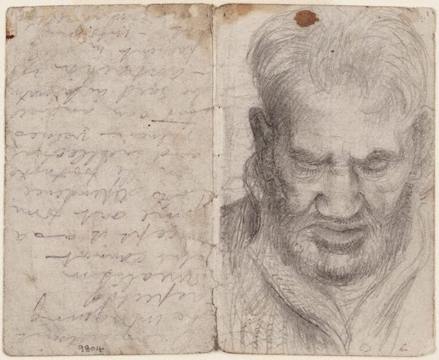 recto: Studies of old men verso: (studies of old men), (1943-1945) by Eric Wilson