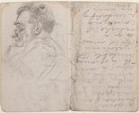 Alternate image of recto: Studies of old men verso: (studies of old men) by Eric Wilson