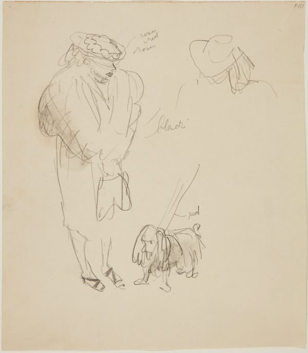 An image of (Study of woman with dog) (Late Sydney Period)