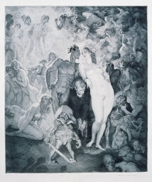 An image of Self portrait by Norman Lindsay