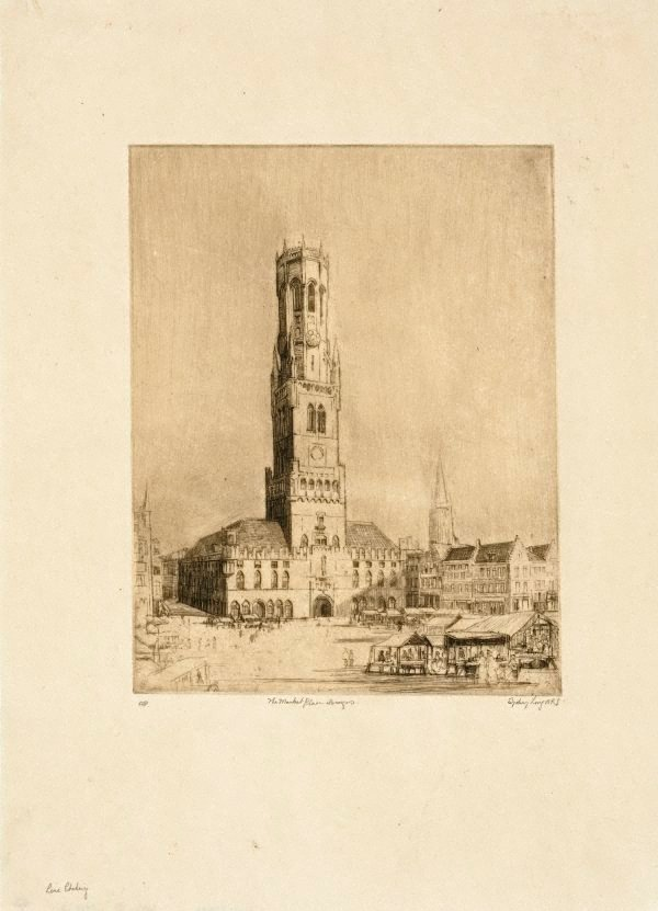 An image of The market place, Bruges