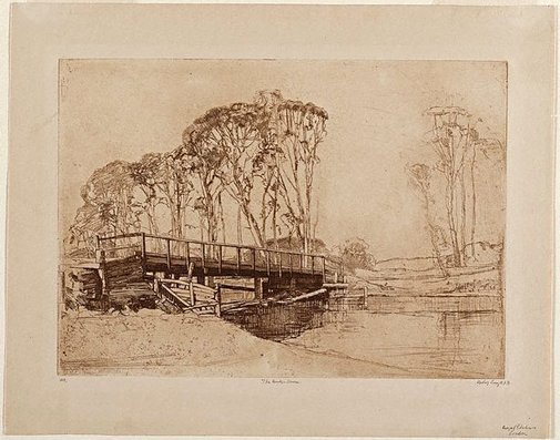 An image of The bridge, Avoca by Sydney Long
