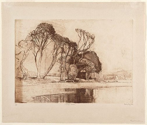 An image of The lake, Avoca by Sydney Long
