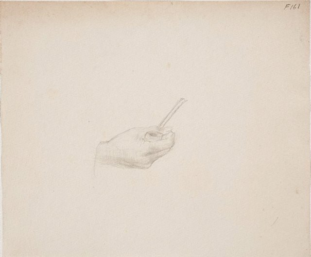 An image of (Study of hand holding a pipe) (Late Sydney Period)