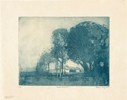 An image of Pastoral aquatint by Sydney Long