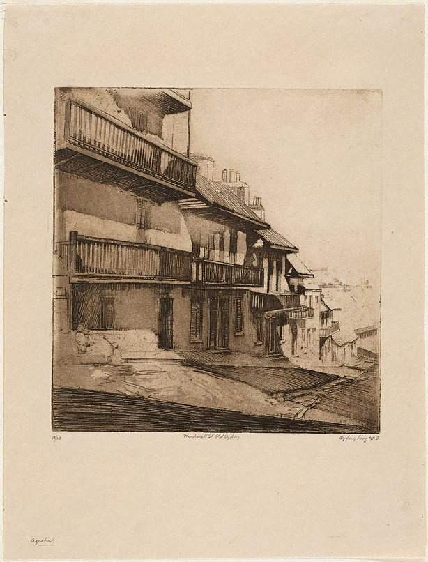 An image of Windmill St., old Sydney