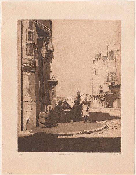 An image of Street scene Alexandria by Sydney Long