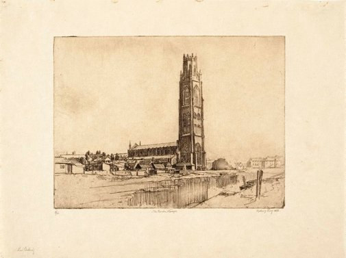 An image of The Boston Stump (St Botolph's Church) by Sydney Long