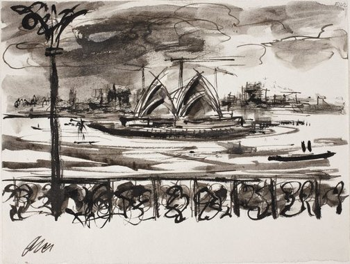 An image of The Opera House by William Dobell