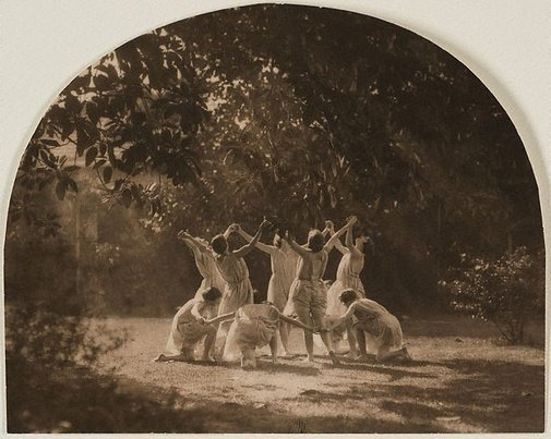An image of Grecian dance by Harold Cazneaux