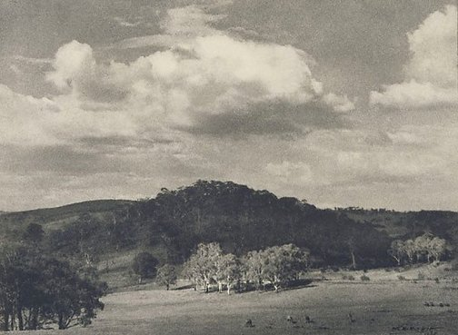 An image of Shadowed hill (Landscape near Orange) by W.H. Moffitt