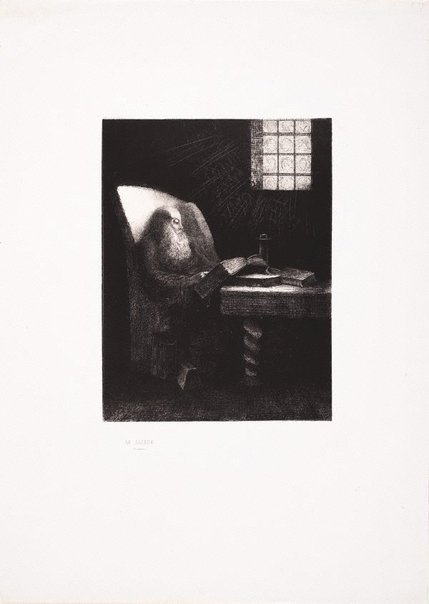 An image of The reader by Odilon Redon