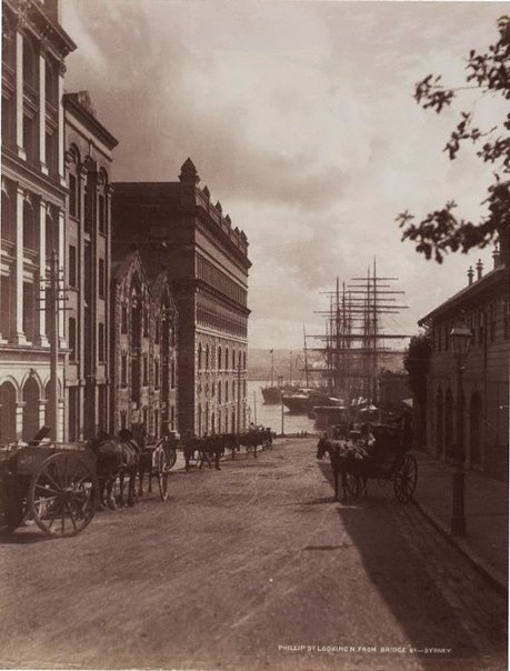 An image of Phillip St. looking North from Bridge St. Sydney by Unknown, NSW Government Printer