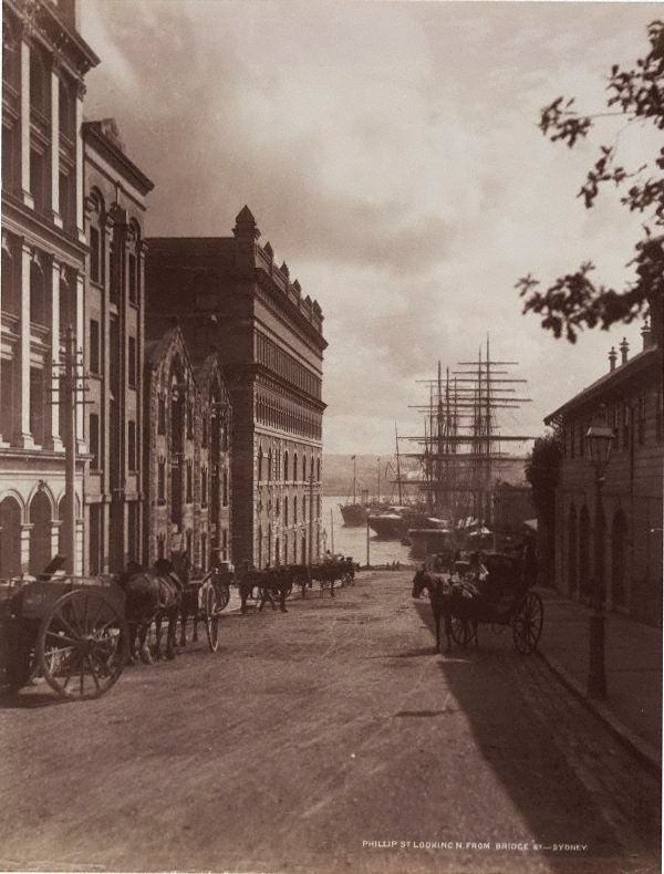 An image of Phillip St. looking North from Bridge St. Sydney