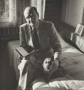 Untitled (man with dog I), Volume of 25 photographs by Max Dupain by Max Dupain