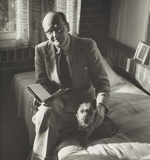 AGNSW collection Max Dupain Untitled (man with dog I)