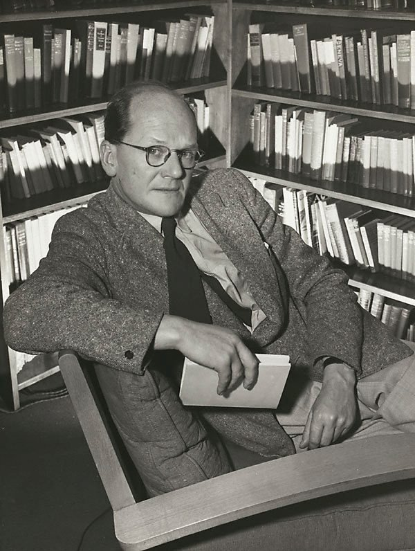 An image of Untitled (man in library III)