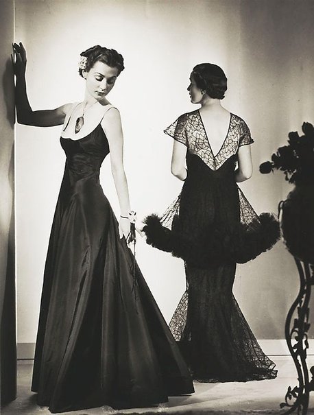 An image of Untitled (two women in evening dresses) by Max Dupain