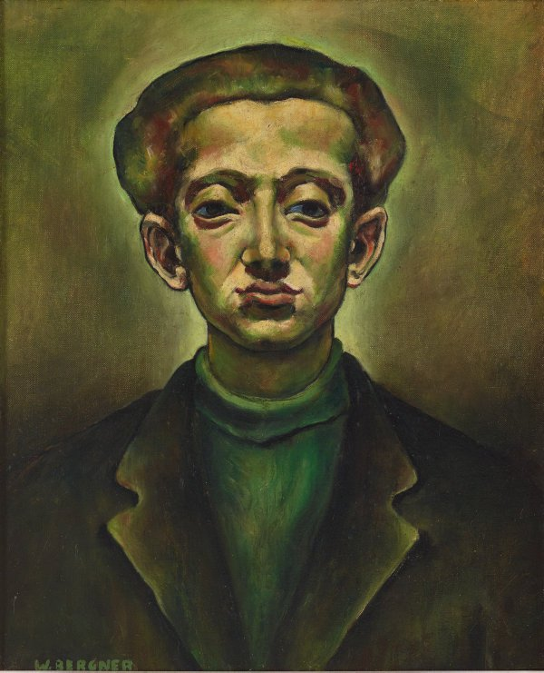 AGNSW collection Yosl Bergner Self-portrait 1939