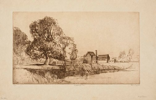 An image of The mill by the river by Sydney Long