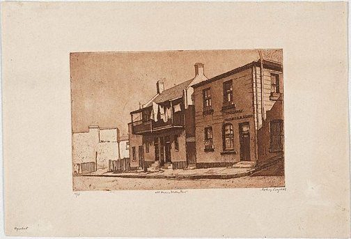 An image of Old houses, Miller's Point by Sydney Long