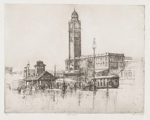 An image of Station square by Sydney Long