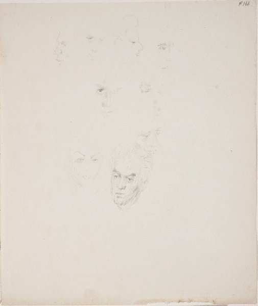 An image of (Face studies) (Late Sydney Period) by William Dobell