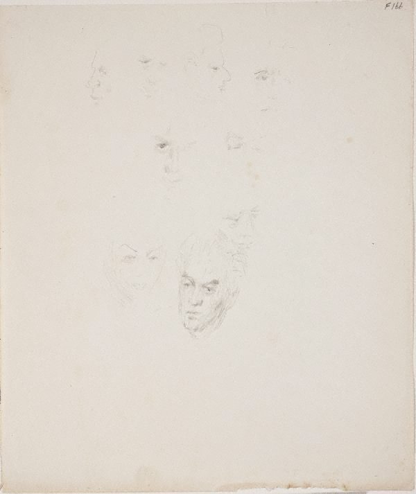An image of (Face studies) (Late Sydney Period)