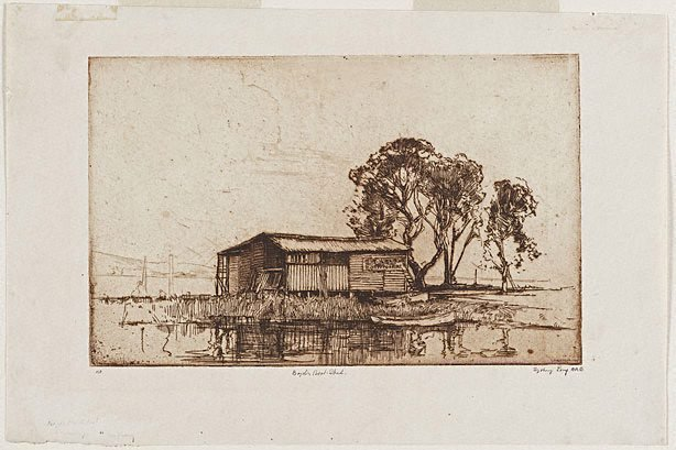 An image of Boyd's boatshed
