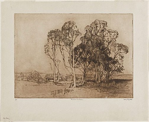 An image of Narrabeen landscape by Sydney Long