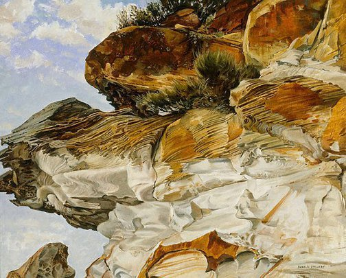 An image of The cliff by Ronald Hewison Steuart