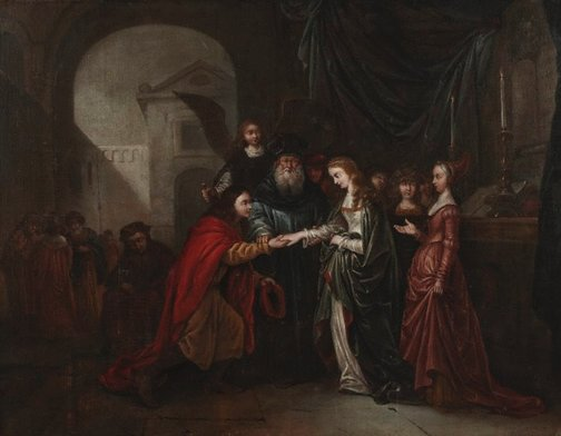 An image of Marriage of Tobit and Sarah by Gerrit de Wet
