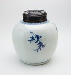 Alternate image of Ginger jar with floral decoration by