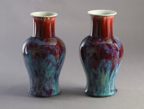 An image of Pair of vases by
