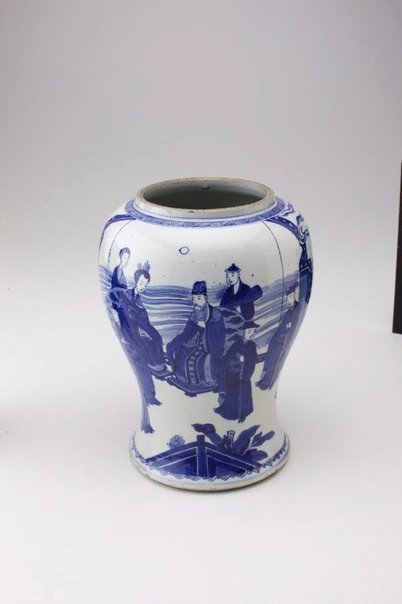 An image of Vase with figure decoration by