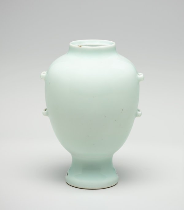 An image of Vase with strap handles