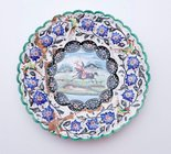 Alternate image of Plate decorated with polo player by
