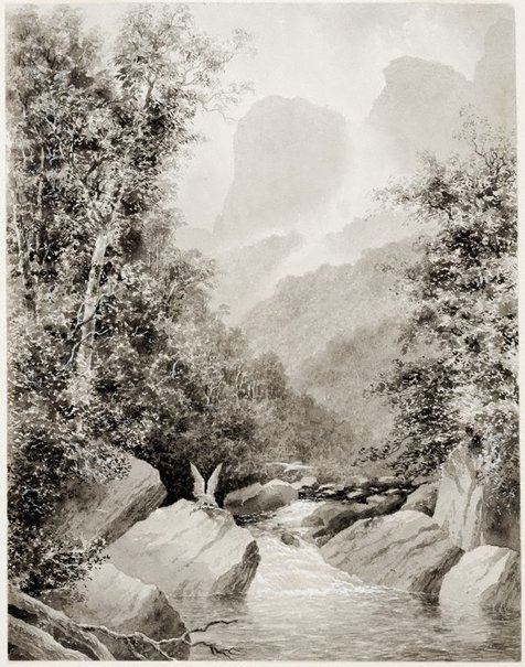An image of In the Grose Valley, Blue Mountains by WC Piguenit