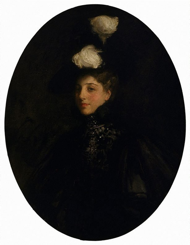An image of The lady with the white feathers