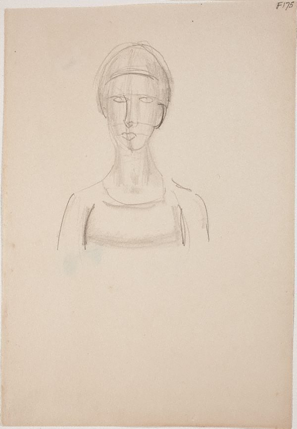 An image of (Head study) (Late Sydney Period)