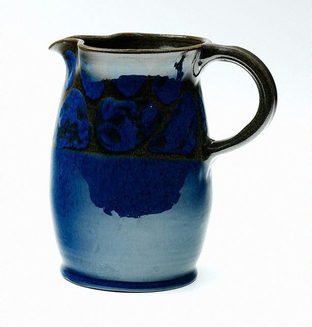 An image of Jug with blue and brown designs