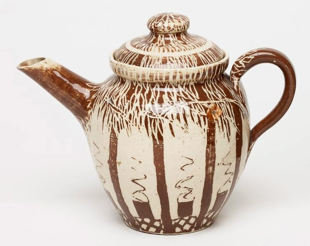An image of Tea-pot with boiling billies and gumtree design