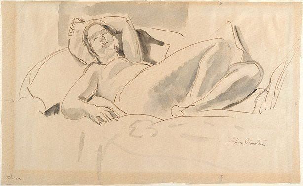 An image of Reclining nude (Dora)