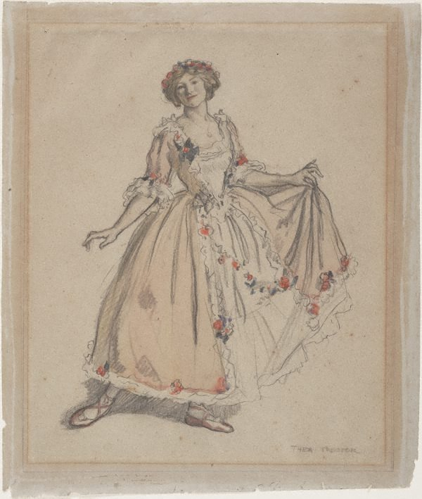 An image of The pink dress