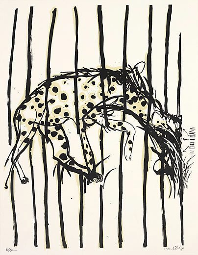 An image of Hyena: no. 6 by Brett Whiteley