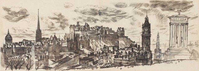 An image of Edinburgh from Calton Hill