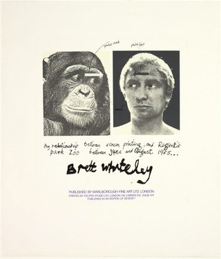 AGNSW collection Brett Whiteley My relationship between screenprinting and Regents Park Zoo: title page (1965) DA11.1966
