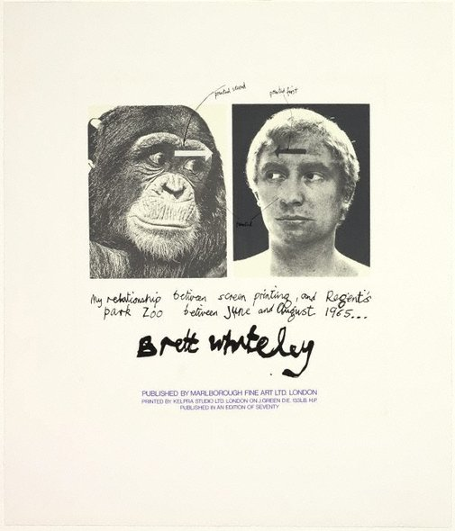 An image of My relationship between screenprinting and Regents Park Zoo: title page by Brett Whiteley