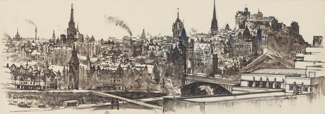 An image of Edinburgh from above St Andrew's House